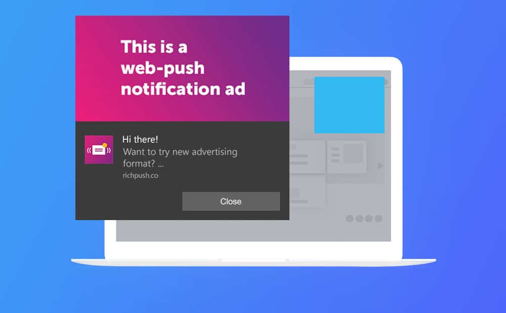 How push notification ads look in different operating systems and browsers