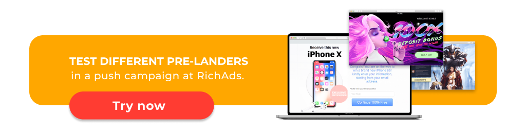 Pre-lander for ush ads (example)