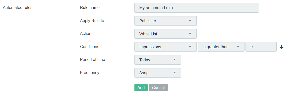 How to set up automated rules