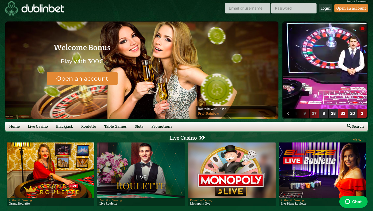 Gambling offer page