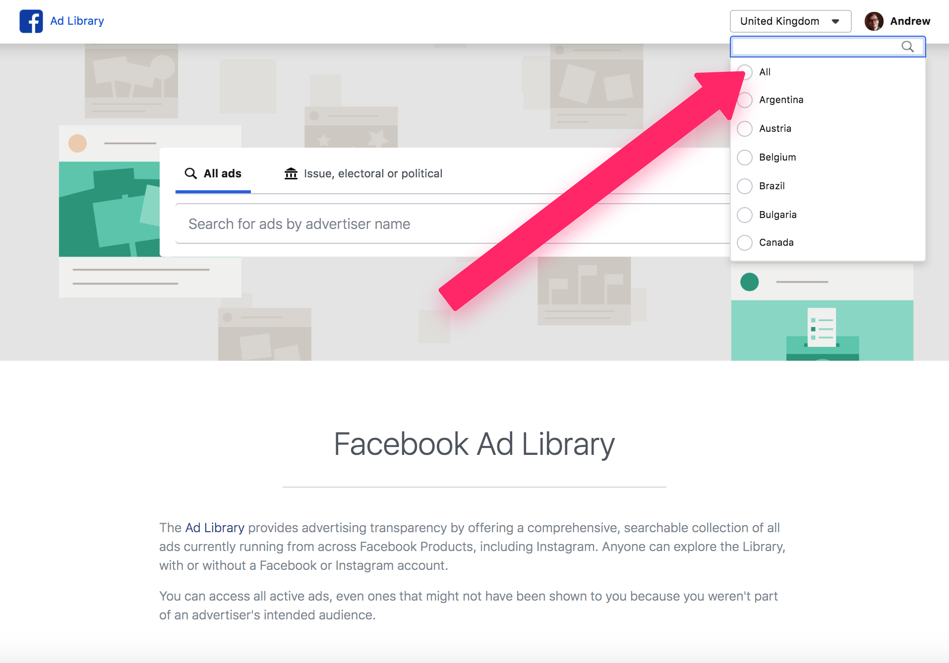 learn how to use ad library