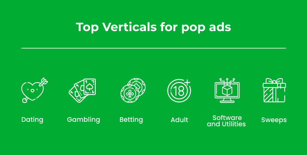 Top verticals for pop campaign launch: