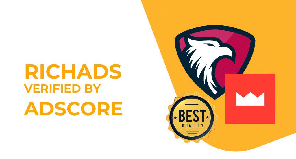 Adscore verifies high quality traffic at RichAds
