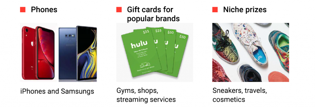 sweepstakes push ads trends products to promote