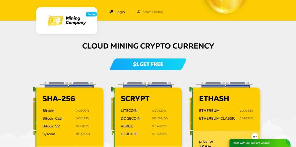 Crypto landing page example 4