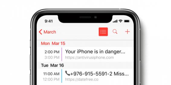 How calendar push ads look like