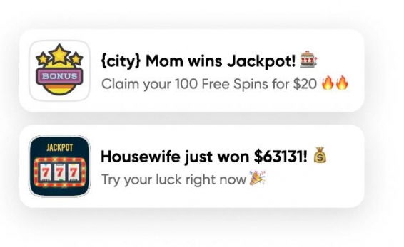 creative examples for Gambling niche
