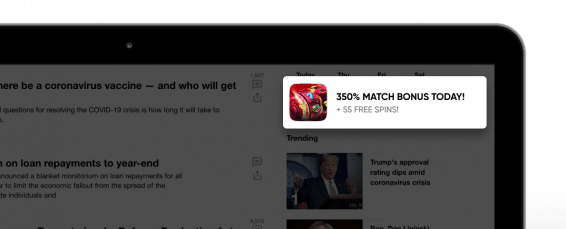 how to launch in-page push campaign for gambling