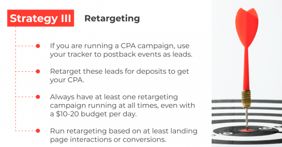 one of the ways to increse the profit from gambling vertical is retargeting