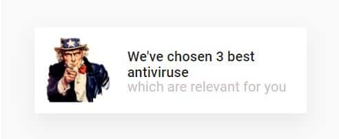 Examples of antiviruses creatives