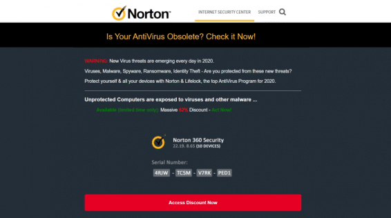 Landing pages examples for antiviruses vertical