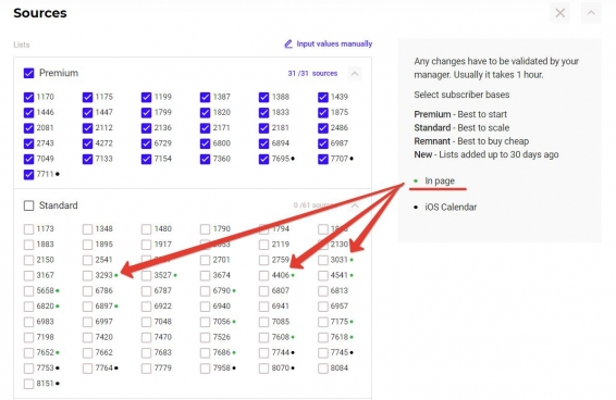 How sources for in-page push traffic look like