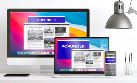 popunders are adopted to all devices