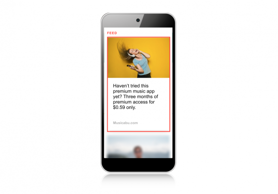 In-feed native ads example